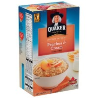QUAKER INSTANT OATMEAL PEACHES AND CREAM