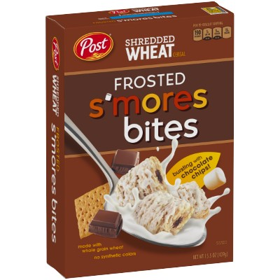 CLEARANCE - POST SHREDDED WHEAT FROSTED SMORES CEREAL