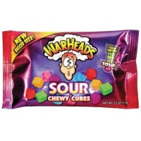 WARHEADS SOUR CHEWY CUBES  CARAMELLE ASPRE