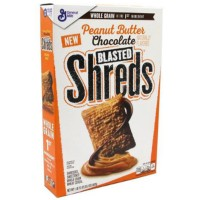 GENERAL MILLS BLASTED SHRED PEANUT BUTTER CHOCOLATE CEREALS