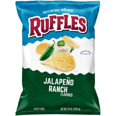 RUFFLES JALAPENO RANCH CHIPS