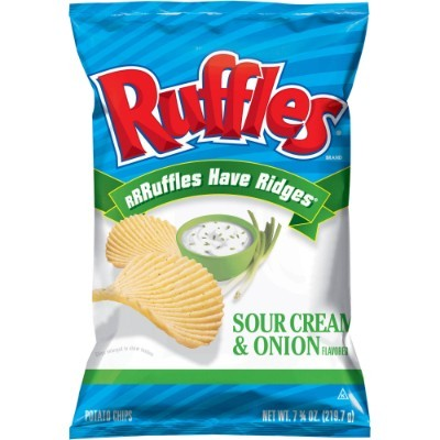 CLEARANCE - RUFFLES SOUR CREAM & ONION CHIPS