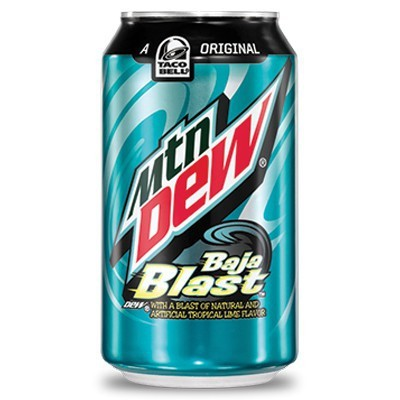 MOUNTAIN DEW BAJA BLAST SODA