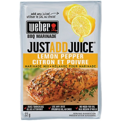 WEBER LEMON PEPPER MARINADE MIX