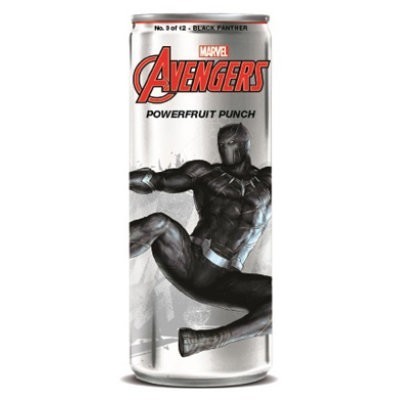 AVENGERS POWERFRUIT PUNCH BLACK PANTHER SODA