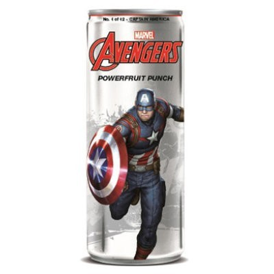 AVENGERS POWERFRUIT PUNCH CAPTAIN AMERICA SODA