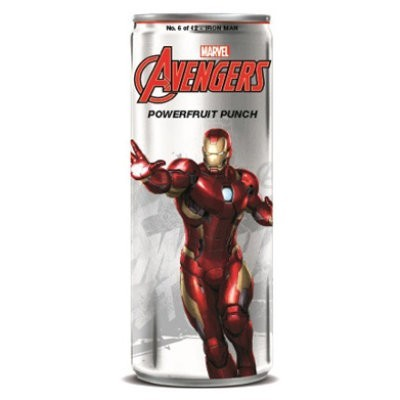 AVENGERS POWERFRUIT PUNCH IRON MAN SODA