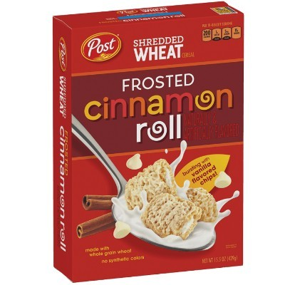 POST SHREDDED WHEAT FROSTED CINNAMON ROLL CEREAL