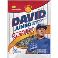 CLEARANCE - DAVID JUMBO SUNFLOWER SEEDS SPICY QUESO
