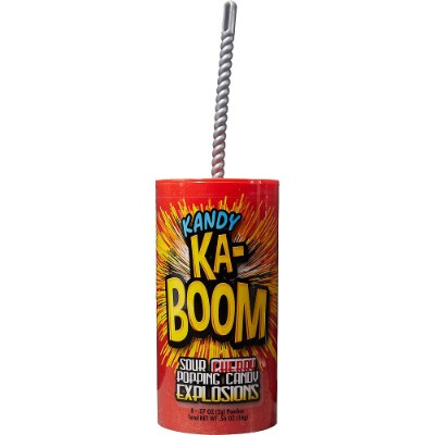 CLEARANCE - KANDY KA-BOOM SOUR CHERRY POPPING CANDY