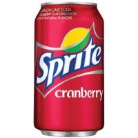 SPRITE CRANBERRY SODA CANNEBERGE