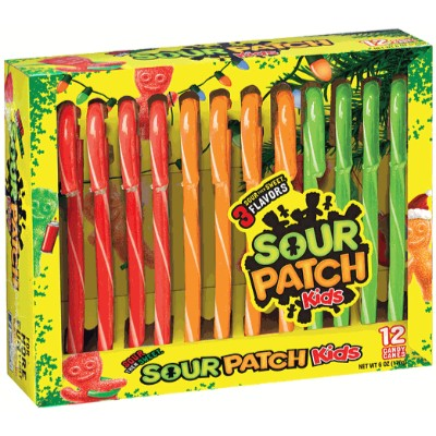 CLEARANCE - SOUR PATCH KIDS CANDY CANES (12)