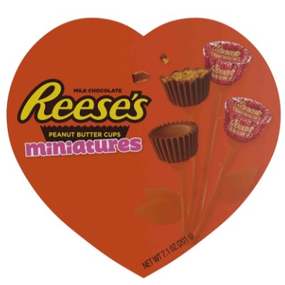 REESE'S PEANUT BUTTER CUPS MINIATURES HEART BOX