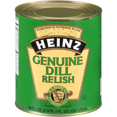 CLEARANCE - HEINZ GENUINE DILL RELISH CAN