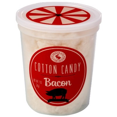 CLEARANCE - CHOCOLATE STORYBOOK BACON COTTON CANDY TUB