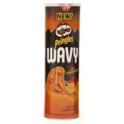 PRINGLES WAVY APPLEWOOD SMOKED CHEDDAR CHIPS