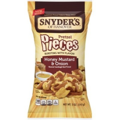 CLEARANCE - SNYDER'S HONEY MUSTARD AND ONION PRETZEL PIECES LARGE