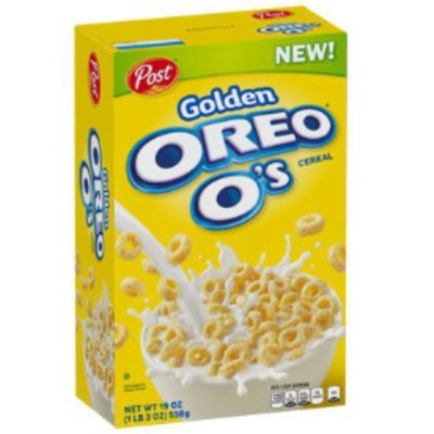 CLEARANCE - POST GOLDEN OREO O'S CEREAL