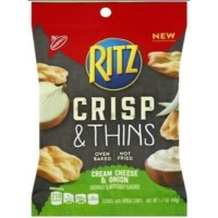RITZ CRACKERS CRISP & THINS CREAM CHEESE & OIGNON