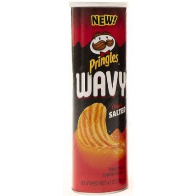 PRINGLES WAVY CLASSIC SALTED CHIPS