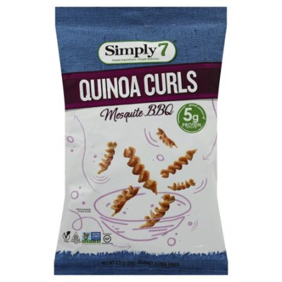 CLEARANCE - SIMPLY 7 MESQUITE BBQ QUINOA CURLS CHIPS