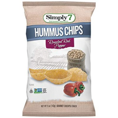 SIMPLY 7 ROASTED RED PEPPER HUMMUS CHIPS