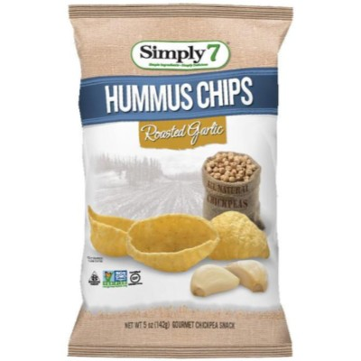 SIMPLY 7 ROASTED GARLIC HUMMUS CHIPS