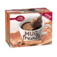 BETTY CROCKER MUG TREATS MUGCAKE BROWNIE CIOCCOLATO E BURRO DI ARACHIDI