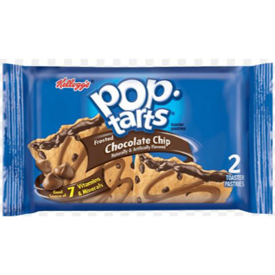 KELLOGG'S POP TARTS CHOCOLATE CHIP - 2 TOASTER PASTRIES