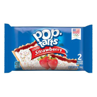 KELLOGG'S POP TARTS FROSTED STRAWBERRY - 2 TOASTER PASTRIES