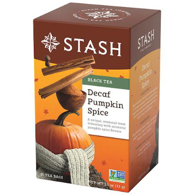 CLEARANCE - STASH TEA PUMPKIN SPICE DECAFFEINATED TEA
