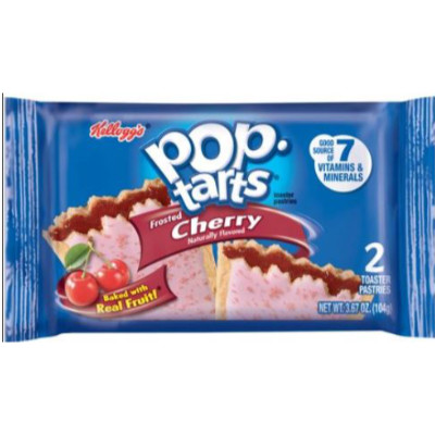 KELLOGG'S POP TARTS FROSTED CHERRY - 2 TOASTER PASTRIES