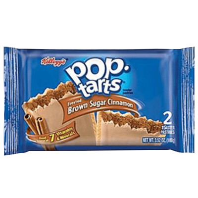 KELLOGG'S POP TARTS FROSTED BROWN SUGAR CINNAMON - 2 TOASTER PASTRIES