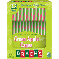 BRACH'S GREEN APPLE CANDY CANES (12)