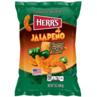 HERR'S JALAPEÑO POPPERS CHEESE CURLS (LARGE)