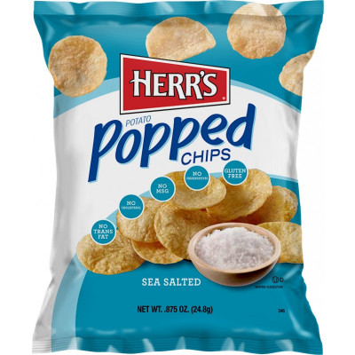 HERR'S ALL NATURAL POPPED CHIPS