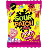 SOUR PATCH KIDS HEADS 2 FLAVORS IN 1 CANDY