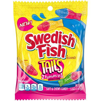 SWEDISH FISH TAILS 2 FLAVORS IN 1 CANDY