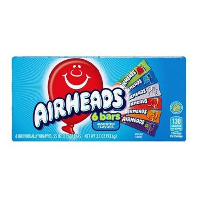 AIRHEADS 6 BARS TAFFY CANDIES