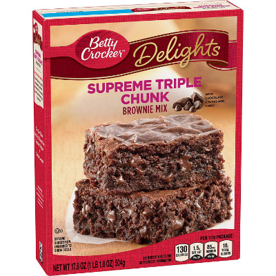 BETTY CROCKER TRIPLE CHUNK BROWNIE MIX