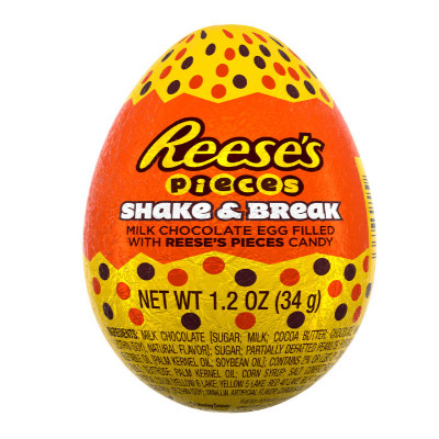 REESE'S 3D EGG FILLED WITH PIECES - SHAKE & BREAK