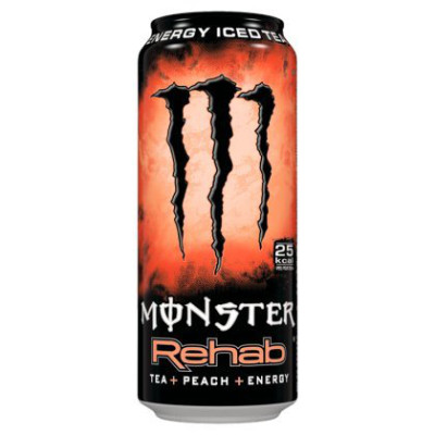 MONSTER ENERGY REHAB PEACH ENERGY DRINK