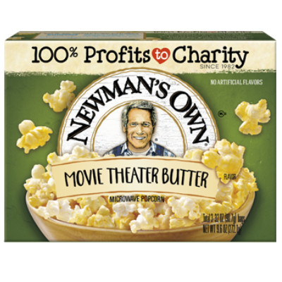 NEWMAN'S OWN MICROWAVE POPCORN MOVIE THEATER BUTTER