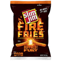 SLIM JIM BUFFALO FURY FIRE FRIES GALLETAS SALADAS APERITIVO PATATAS FRITAS PICANTES