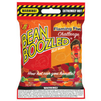 JELLY BELLY BEANBOOZLED FLAMING FIVE CARAMELLE PICCANTI BUSTA