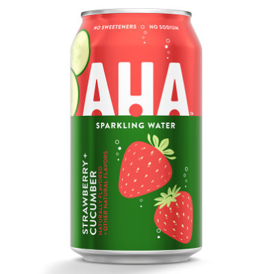 AHA STRAWBERRY CUCUMBER SPARKLING WATER