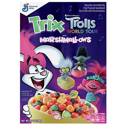 TRIX TROLLS WORLD TOUR CEREAL