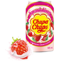 CHUPA CHUPS SPARKLING STRAWBERRY CREAM SODA
