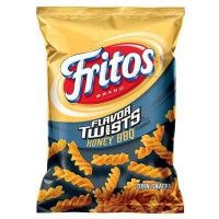 FRITOS HONEY BBQ FLAVOR TWISTS CORN CHIPS LARGE
