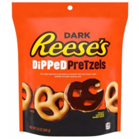 REESES DIPPED PRETZELS CHOCOLATE NEGRO